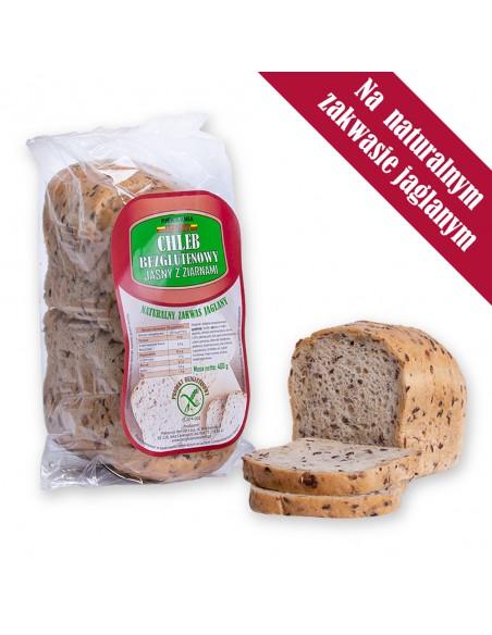 Chleb bezglutenowy jasny z ziarnami, waga: 400 g