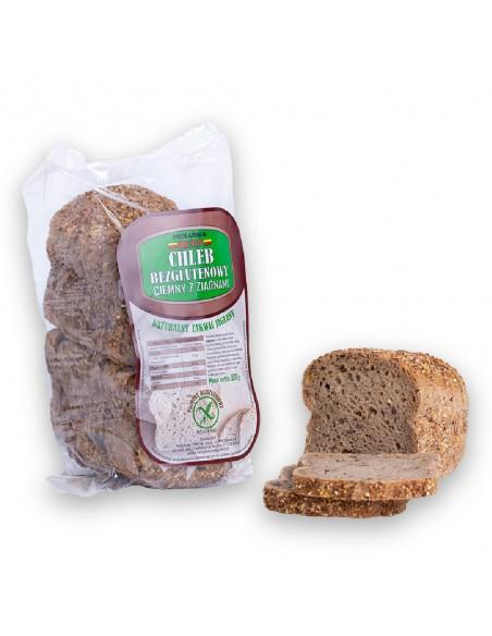 Chleb bezglutenowy ciemny, waga: 500 g