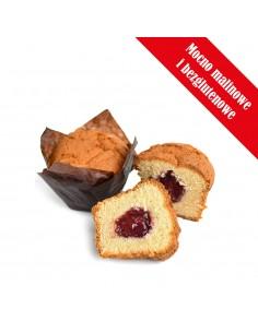 Muffinka bezglutenowa z nadzieniem malinowym 110g
